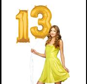 Cijfer ballonnen goud 13