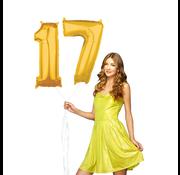 Cijfer ballonnen goud 17