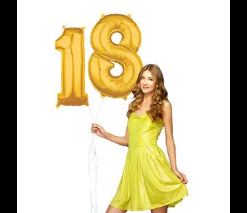 Cijfer ballonnen goud 18