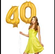 Cijfer ballonnen goud 40