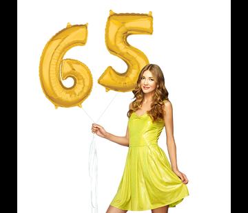 Cijfer ballonnen goud 65