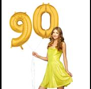 Cijfer ballonnen goud 90