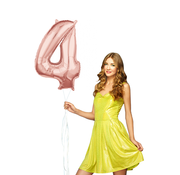 Helium cijfer ballon 4