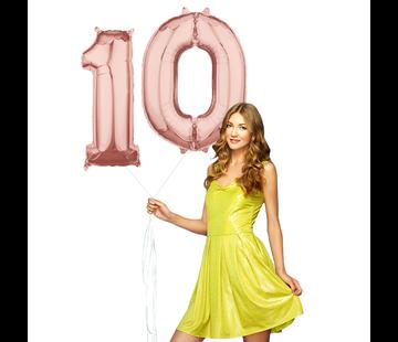 Helium cijfer ballonnen 10