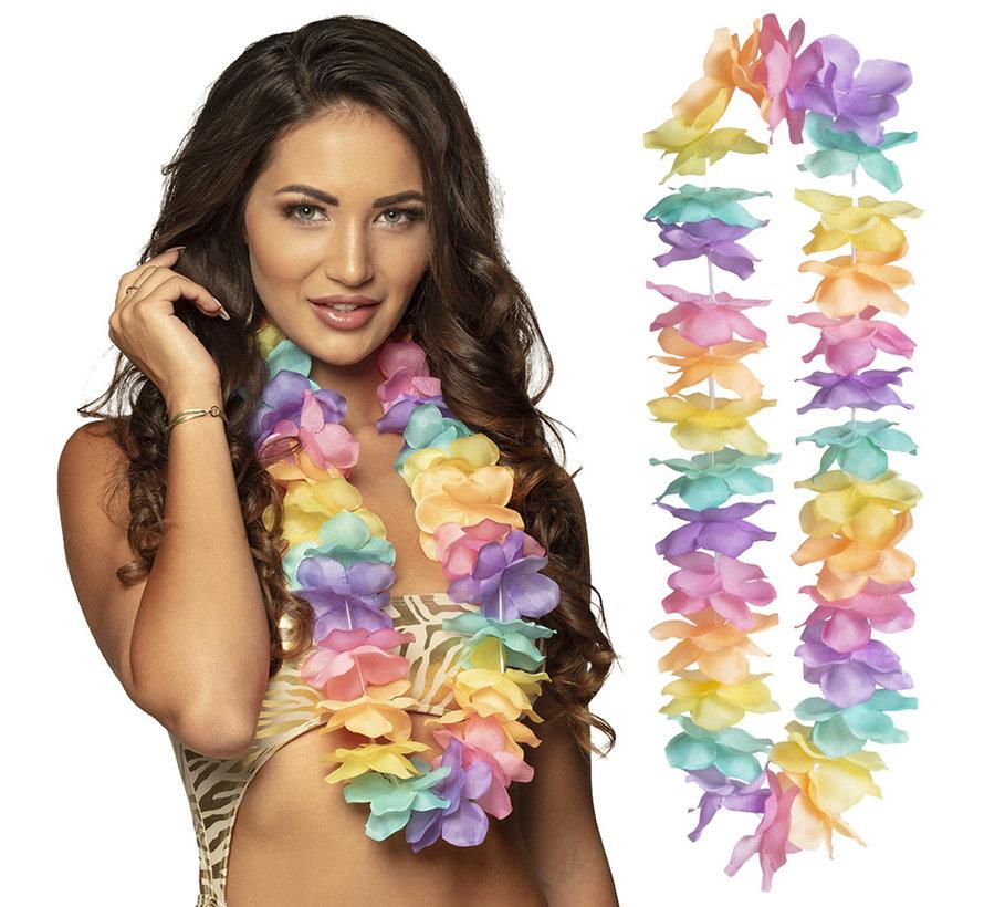 Goedkope  hawaii ketting pastelkleurig