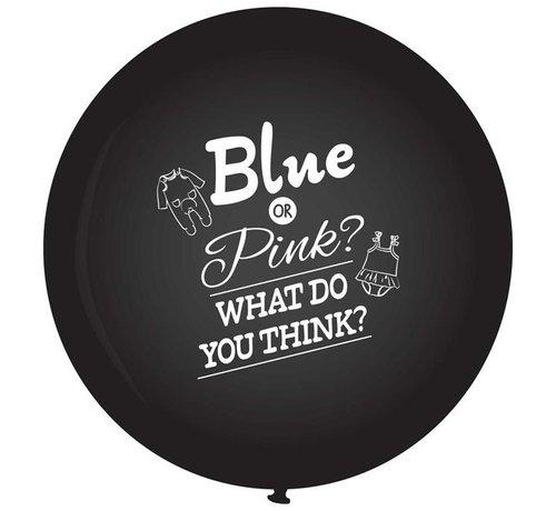 Zwarte geslacht onthullen ballon