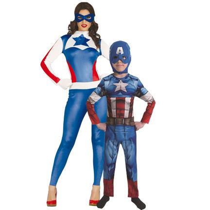 Captain America outfit volwassenen  dames heren en kinderen