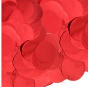Confetti metallic rood