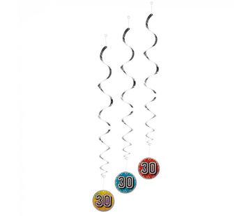 Decoratie spiraal 30 jaar