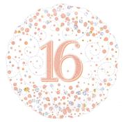 Folie ballon 16 jaar rosé-goud