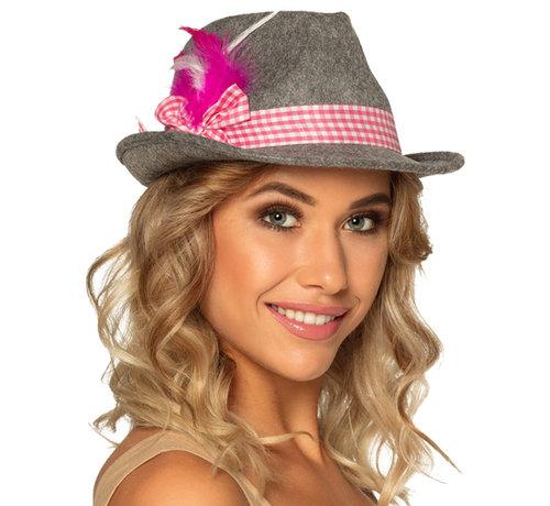 Dames Dirndl hoedje roze