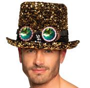 Steampunk pailletten hoed