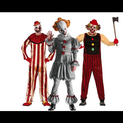 Horror clown kostuums en accessoires kopen