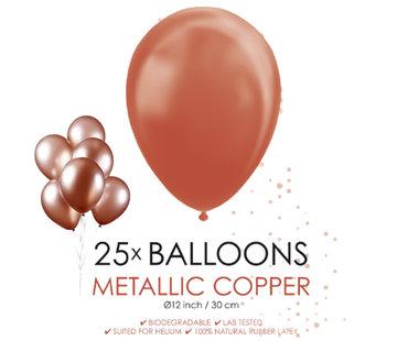 Koperkleurige metallic ballonnen