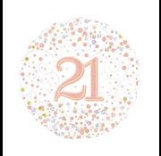 Folie-ballon 21 jaar rosé-goud