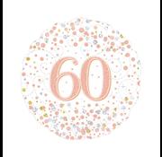 Folie-ballon 60 jaar rosé-goud