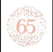 Folie-ballon 65 jaar rosé-goud