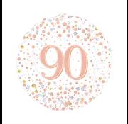 Folie-ballon 90 jaar rosé-goud