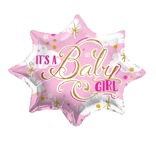 Folie Ballon IT'S A GIRL roze