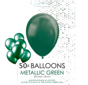 50 donkergroene metallic ballonnen