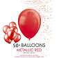 50 rode metallic ballonnen