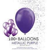 100 paarse ballonnen