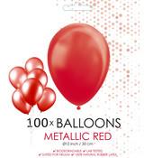 Metallic rode ballonnen