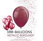 100 burgundy metallic ballonnen