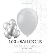 Zilverkleurige ballonnen