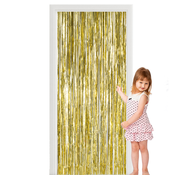 Deurgordijn folie  goud