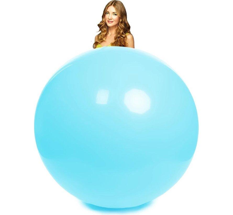 Baby blauwe reuze ballon 180 centimeter doorsnee