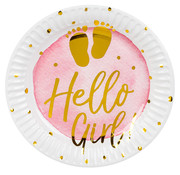 Papieren bordjes Hello Girl