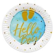 Papieren bordjes Hello Boy