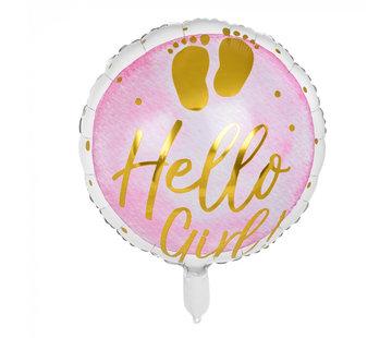 Folieballon 'Hello Girl!'