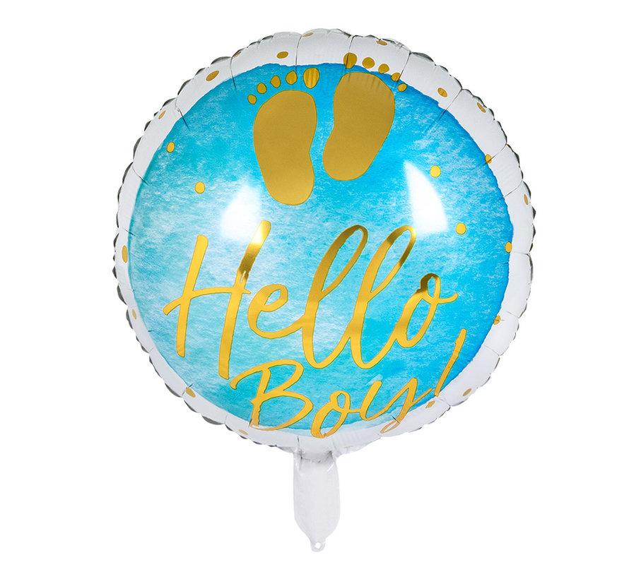 Helium Folieballon 'Hello Boy!'