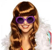 Dames neon bril paars