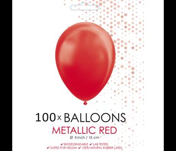 Kleine ballonnen metallic rood