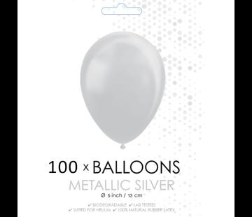 Kleine ballonnen metallic zilver