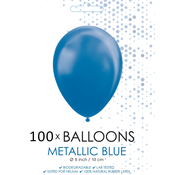 Kleine ballonnen metallic blauw