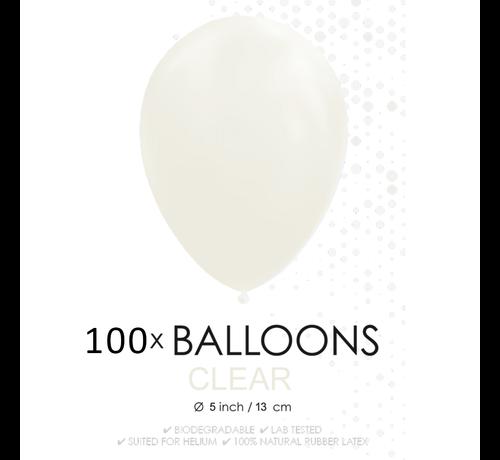 5 inch ballonnen doorzichtig 100 stuks