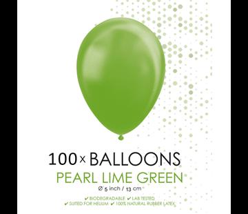 Kleine ballonnen parel lime groen