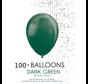 5 inch ballonnen donkergroen 100 stuks