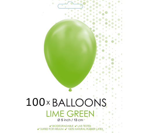 5 inch ballonnen lime groen 100 stuks