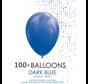 5 inch ballonnen donkerblauw 100 stuks