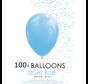 5 inch ballonnen lichtblauw 100 stuks