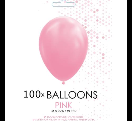 5 inch ballonnen roze 100 stuks