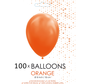 5 inch ballonnen oranje 100 stuks