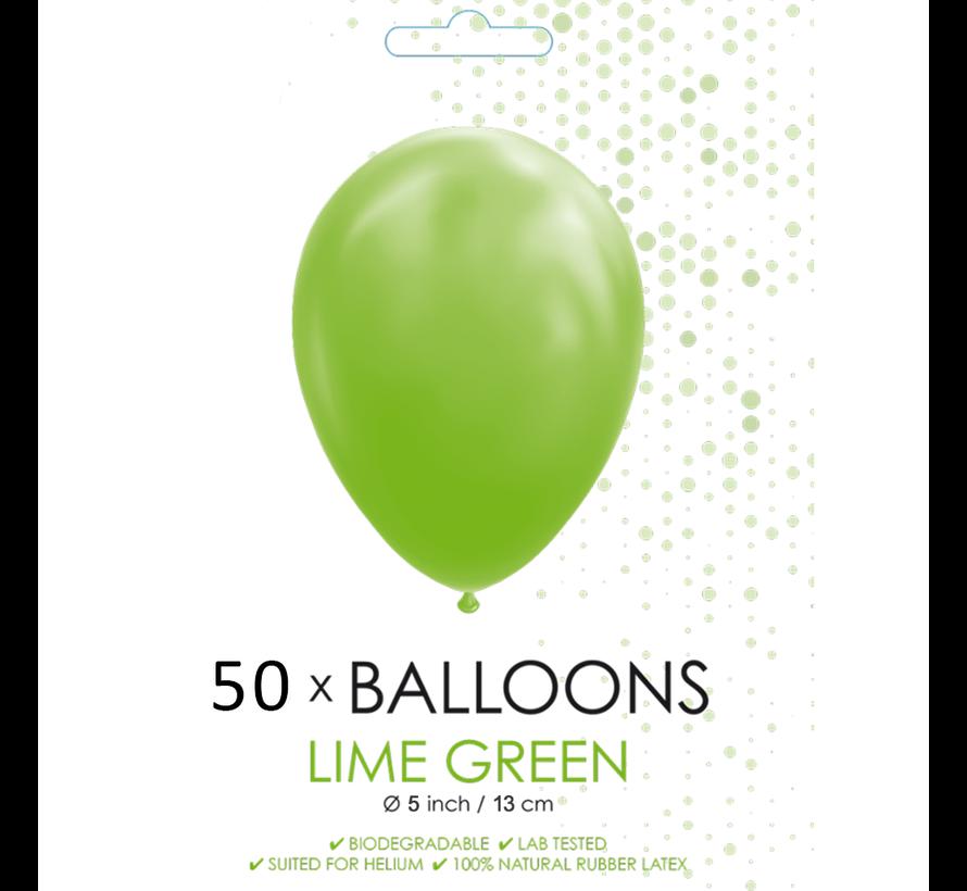 50 Ballonnen lime groen 5 inch
