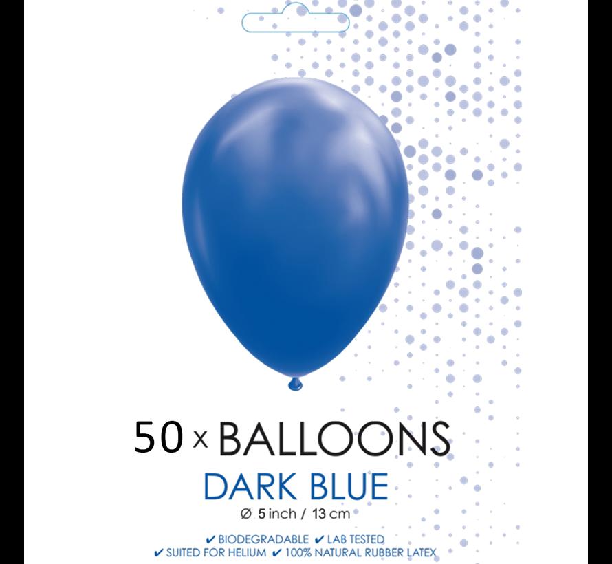 50 Ballonnen donkerblauw 5 inch