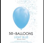 Ballonnen lichtblauw 5 inch